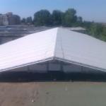 Доставка на покривни панели за реконструкция на стар покрив на ЕТ Съни комерс в к.к Слънчев бряг