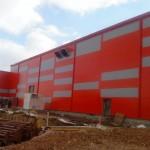 Доставка фасадни панели за  реконструкция на старо хале  гр. София