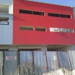Доставка на гладки фасадни панели на шоурум с автосервиз на Диди 94 в гр. Плевен-2