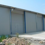 Доставка на покривни и фасадни панели за  склад на Клима комфорт в с. Леденик-4