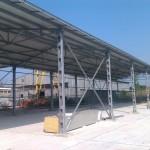 Доставка на покривни и фасадни панели на склад на Технохим-2