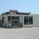 Доставка на покривни и фасадни панели на шоурум за строителни материали в гр. Варна