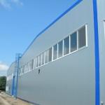 доставка на покривни и фасадни термопанели на НСКФ трейд - завод за кабели в гр. Айтос-3